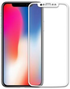 Защитное стекло для iPhone X Baseus 0.2mm Silk-Screen Tempered Glass Film White