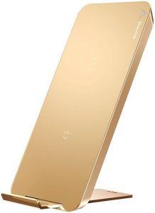 Беспроводное зарядное устройство-подставка Baseus multifunctional wireless charging pad for phone with desktop holder  (With Type-C cable) Gold