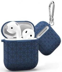TPU-чехол для зарядного кейса AirPods 1 (2016) WIWU Snowflake Protect Case Blue