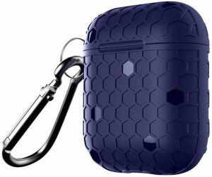 TPU-чехол для зарядного кейса AirPods 1 (2016) WIWU Football Protect Case Blue