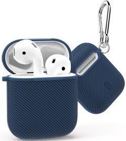 TPU-чехол для зарядного кейса AirPods 1 (2016) WIWU Carbon Protect Case Blue