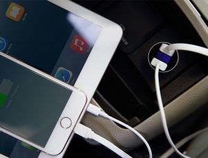 Автомобильное зарядное устройство Rock H2 Car Charger with Digital Display 3.4A Black