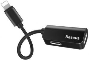 Переходник Baseus iP Male to iP+iP Female Adapter L37 Black