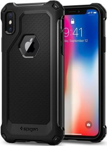 Чехол для iPhone X Spigen Case Rugged Armor Extra Black (057CS22154)