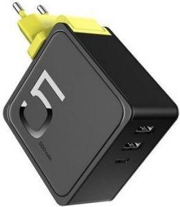 Внешний аккумулятор + сетевое зарядное устройство Rock Sugar 2-in-1 Power Bank and Wall Charger Black (RMP0372)