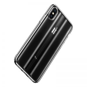 Чехол для iPhone XS Max (6.5'') Baseus Aurora Case Transparent Black (WIAPIPH65-JG01)