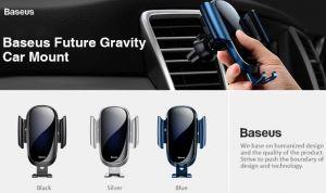 Автодержатель (до 7'') Baseus Future Gravity Car Mount Black (SUYL-WL01)