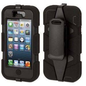 Противоударный чехол Griffin Survivor Black/Black для iPhone SE и iPhone 5/5S (GB35677-2)