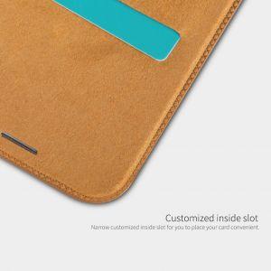 Кожаный чехол для iPhone XR (6.1'') Nillkin Qin Series Brown