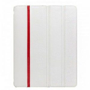 Кожаный чехол для iPad Air Teemmeet Smart Cover White (SMA1304)