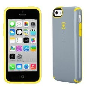 Чехол для iPhone 5C Speck CandyShell (Nickel Grey/Caution Yellow) (SP-SPK-A2430)