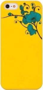 Чехол для iPhone SE и iPhone 5/5S Bling My Thing ORCHID COLOUR (Yellow with Turquoise) (BMT-AI5-OD-YL-BLZ)