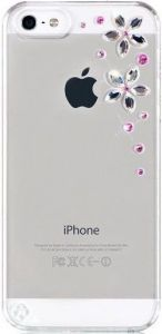 Чехол для iPhone SE и iPhone 5/5S Bling My Thing METALLIC MIRROR (FLOWERS 2 PINK MIX COLOUR) (BMT-22-00-03-10)