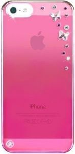 Чехол для iPhone SE и iPhone 5/5S Bling My Thing METALLIC MIRROR (BUTTERFLIES LIGHT ROSE) (BMT-22-16-09-41)