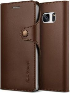 Кожаный чехол для Samsung Galaxy Note Fan Edition (N935) / Note 7 (N930) VRS Design Native Diary - Dark Brown (904675)