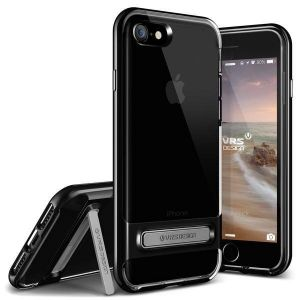 Чехол для iPhone 8 / 7 (4.7'') VRS Design Crystal Bumper - Jet Black (904756)