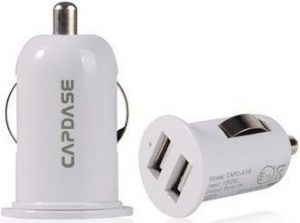 Автомобильное зарядное устройство для iPhone/iPod/iPad mini/Smartphone Capdase Dual USB Car Charger Pico G2 White (1 A) (CA00-PG02)