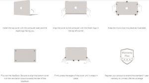 "Чехол для MacBook Air 13"" Retina (2018) Moshi Ultra Slim Case iGlaze Stealth Black (99MO071007)"
