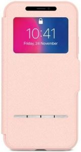 Чехол для iPhone X Moshi Sensecover Slim Portfolio Case with Touch Cover Luna Pink (99MO072309)