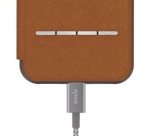 Чехол для iPhone XS/X Moshi Sensecover Slim Portfolio Case with Touch Cover Caramel Brown (99MO072731)