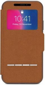 Чехол для iPhone X Moshi Sensecover Slim Portfolio Case with Touch Cover Caramel Brown (99MO072731)
