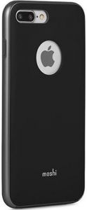 Чехол для iPhone 8 Plus / 7 Plus (5.5'') Moshi iGlaze Slim Lightweight Snap-On Case Metro Black (99MO090002)