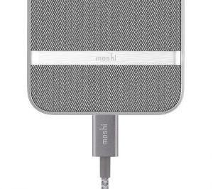 Чехол для iPhone 8 Plus / 7 Plus (5.5'') Moshi Vesta Textured Hardshell Case Herringbone Gray (99MO090011)