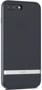 Чехол для iPhone 8 Plus / 7 Plus (5.5'') Moshi Vesta Textured Hardshell Case Bahama Blue (99MO090513)