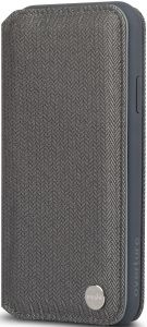 Чехол для iPhone XS MAX (6.5'') Moshi Overture Premium Wallet Case Herringbone Gray (99MO091052)