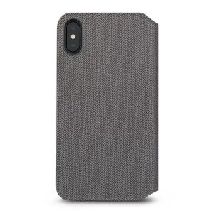 Чехол для iPhone XS MAX (6.5'') Moshi Overture Premium Wallet Case Herringbone Gray (99MO091052)