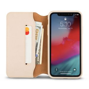 Чехол для iPhone XR Moshi Overture Premium Wallet Case Savanna Beige (99MO091261)
