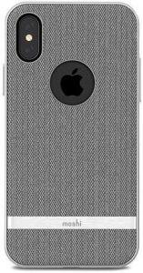 Чехол для iPhone X Moshi Vesta Textured Hardshell Case Herringbone Gray (99MO101031)