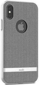 Чехол для iPhone X/XS Moshi Vesta Textured Hardshell Case Herringbone Gray (99MO101031)