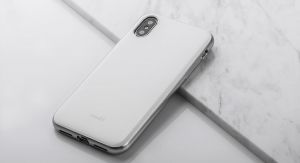 Чехол для iPhone X/XS Moshi iGlaze Ultra Slim Snap On Case Pearl White (99MO101101)