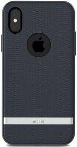 Чехол для iPhone X Moshi Vesta Textured Hardshell Case Bahama Blue (99MO101511)