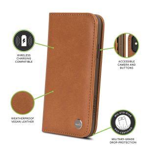 Чехол для iPhone XS/X Moshi Overture Wallet Case Caramel Brown (99MO101751)