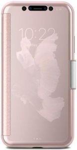 Чехол для iPhone X Moshi StealthCover Slim Folio Case Champagne Pink (99MO102301)