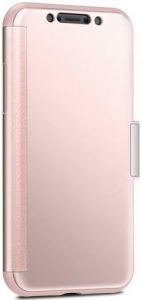 Чехол для iPhone XS/X Moshi StealthCover Slim Folio Case Champagne Pink (99MO102301)