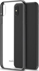 Чехол для iPhone XS MAX (6.5'') Moshi Vitros Slim Clear Case Raven Black (99MO103035)