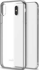 Чехол для iPhone XS MAX (6.5'') Moshi Vitros Slim Clear Case Jet Silver (99MO103203)