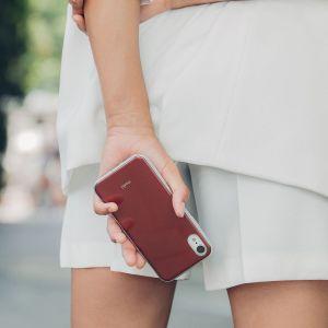 Чехол для iPhone XR Moshi iGlaze Slim Hardshell Case Merlot Red (99MO113321)