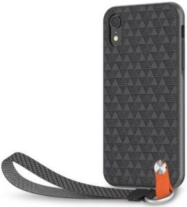 Чехол для iPhone XR Moshi Altra Slim Hardshell Case With Strap Shadow Black (99MO117001)