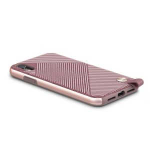 Чехол для iPhone XR Moshi Altra Slim Hardshell Case With Strap Blossom Pink (99MO117301)