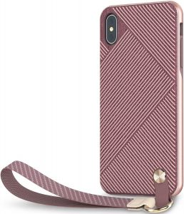 Чехол для iPhone XS MAX (6.5'') Moshi Altra Slim Hardshell Case With Strap Blossom Pink (99MO117302)