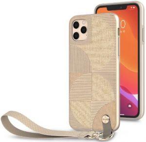 Чехол для iPhone 11 Pro Max (6.5'') Moshi Altra Slim Case with Wrist Strap Sahara Beige (99MO117305)