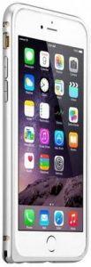 Бампер для iPhone 6/6S (4.7'') Melkco Q Arc Bumper - Silver (APIP6FALQASRME)