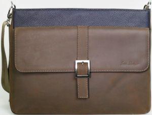 Кожаная сумка для ноутбуков до 13'' Issa Hara Original Man Brown / Navy Blue (B17(13-32))