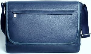 Кожаная сумка для MacBook 12''/Air 11''/Pro Retina 13''/Air 13'' Issa Hara Active Man Navy Blue (BМ5(13-33))