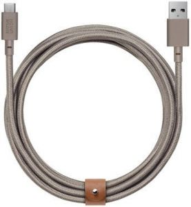 Кабель Native Union Belt Cable USB-A to USB-C Taupe (3 m) (BELT-KV-AC-TAU-3)