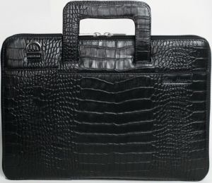 Кожаная сумка для MacBook 12''/Air 11''/Pro Retina 13''/Air 13'' Issa Hara Black Croco (BSL13 (21-00))
